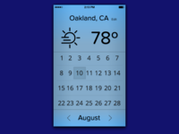 iOS Weather App Interface Concept