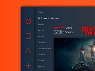 Movie Menu Search Interface