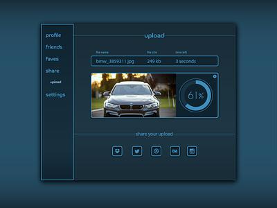 Generic Progress Bar Upload Interface for DailyUI 086. 086 freelance for hire bay area ui dailyui arden hanna upload interface progress bar