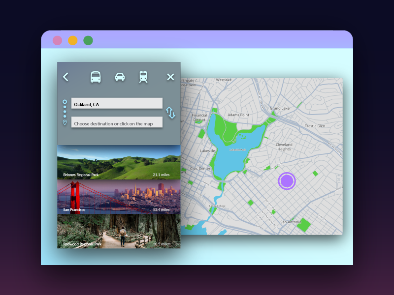 Map Search Interface for DailyUI Practice search map web design freelance for hire bay area ux arden hanna interface ui