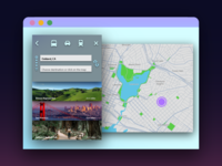Map Search Interface for DailyUI Practice