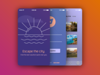 iOS Onboarding for Vacation App