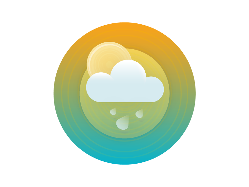 Just for fun. clouds sun illustration for hire freelance bay area arden hanna