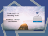 Web Design Proposal for FrontPage