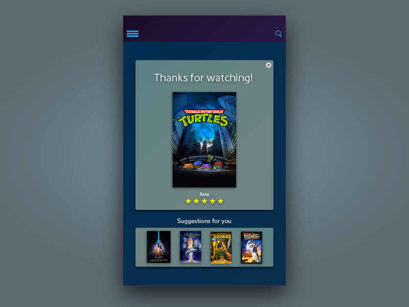 Curated Video Suggestions for iOS Movie Stream App Concept dailyui ios interface ui freelance for hire bay area app design arden hanna