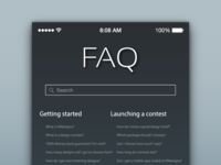 FAQ Page for DailyUI 092.