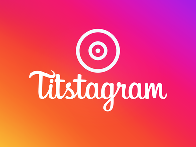 Tistagram facebook social tits social media instagram typography branding design vector logo graphic