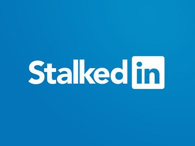 Stalkedin socialmedia stalker linkedin social social media typography branding illustrator logo illustration design vector graphic