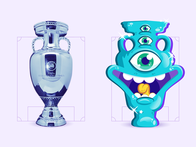 Euro 2020 cup illustration filipes illustration vector character graphic design smile illustrator funny face euro2020 soccer cup
