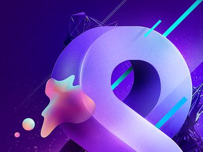 Imagin8 motion poster infinite cosmos purple photoshop illustrator 3d type vector graphic illustration