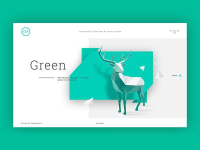 Simple Company Page clean phone desktop responsive reindeer green graphic design platform interface ux ui