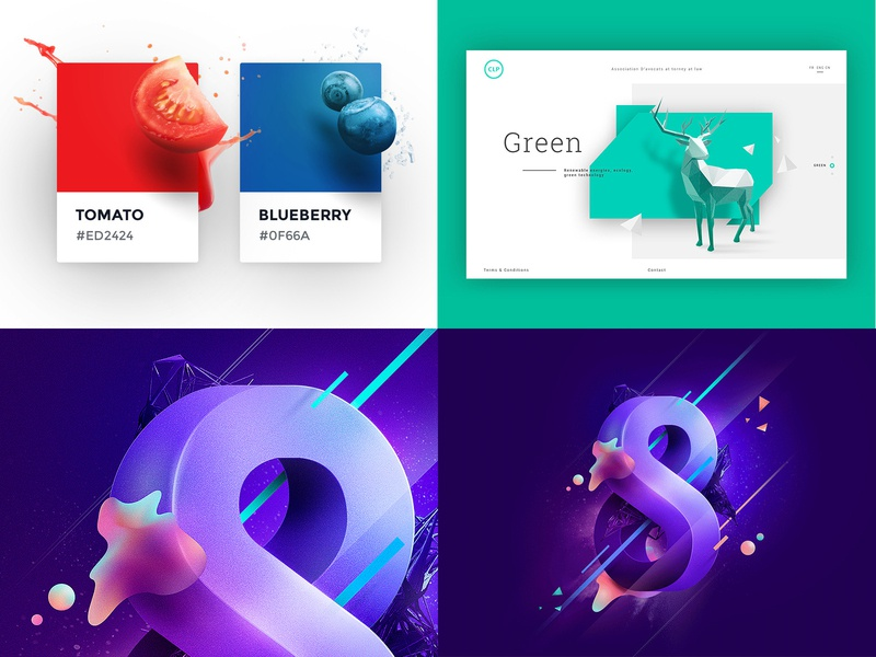 2018 top 4 infinite cosmos space print light 8 ui website interface type graphic poster pantone card color