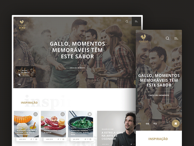 """Gallo - Olive oil"" site proposal digital art oliveoil gallo webdesign site usability interface digital graphic ux ui"