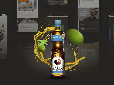 """Gallo - Olive oil"" site proposal digitalart oliveoil gallo digital art webdesign digital interface ux ui design graphic"