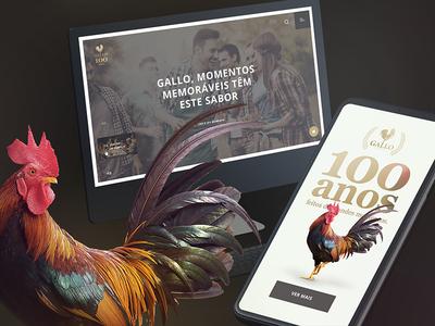 """Gallo - Olive oil"" site proposal cards card timeline responsive web webdesign digitalart oliveoil gallo filipesj design interface ui ux"