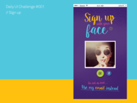 DailyUI // Day 1 : Sign up