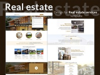 Design for Real Estate Services Template