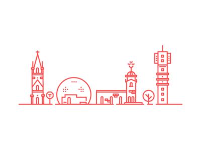 Stockholm outlines debute sweden icon stockholm outline illustration