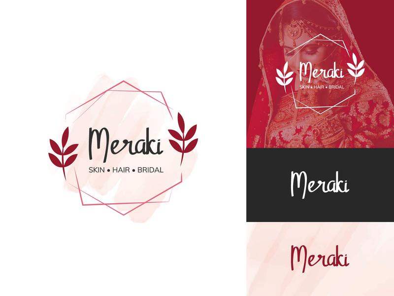 Meraki Beauty Salon Logo 2 makeup artist bridal salon beauty salon beauty branding logo