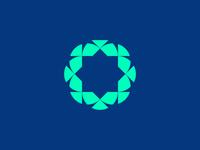 shape on blue