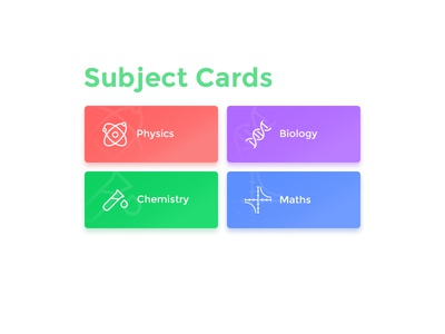 Subject Cards UI