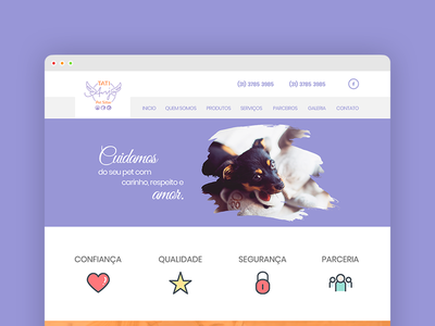 Site Pet Sitter | Tati Anjo user inteface user experience interface designer product page pet pet design web design interface design interface website concept website web site design site ux design ux  ui ux ui ui-design uidesign