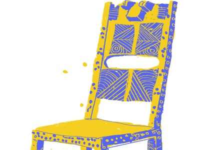 Chair pixel fable illustration chair throne