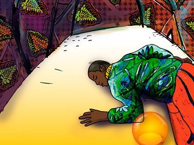 Sleeping astronaut  african tent sleeping astronaut