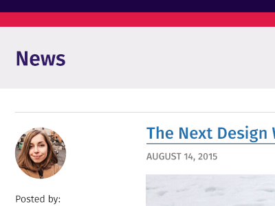 News news newsfeed webapp interface ui