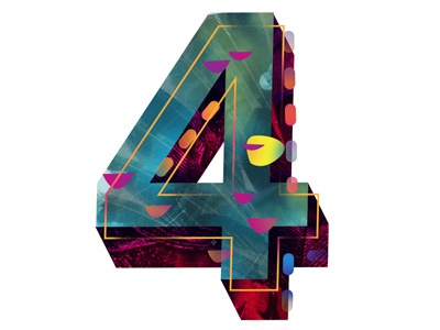 the number 4 by senongo dribbble dribbble