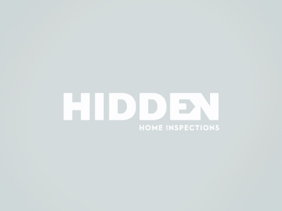 Hidden Home Inspections Logo clean simple home business logo