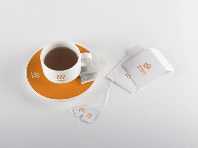 Coffee & More - Identity identity visual typography shop orange logo drink design coffee branding brand arabic
