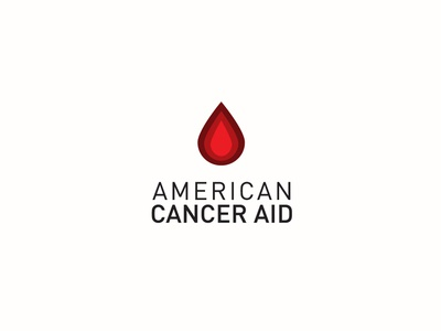 American Cancer Aid care american patient research blood probono association aid cancer typography branding design logo