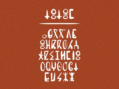 Totem typography typeface tifinagh text morocco lettering font flat design berber ancient amazigh