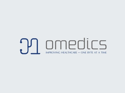 Omedics corporate programming byte stethoscope health health center medical medic hospital healthcare branding design logo