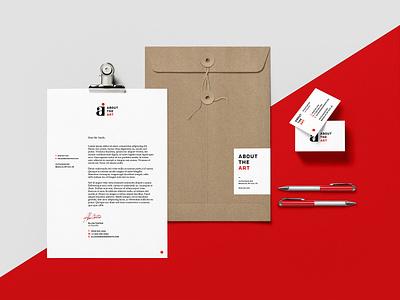 About The Art print red identity branding stationery magazine journalism art webzine uk