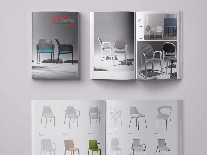EnoMaroc Catalog architecture chair product catalog chairs layout design grid layouts catalog print layout design