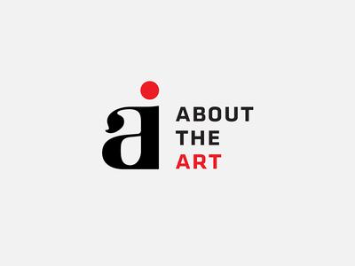 About The Art logotypes minimalistic clean logo identity branding stationery magazine journalism art webzine