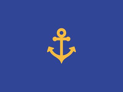 Pieter Petros logo 3d symbol branding suits tailoring anchor navy blue logo