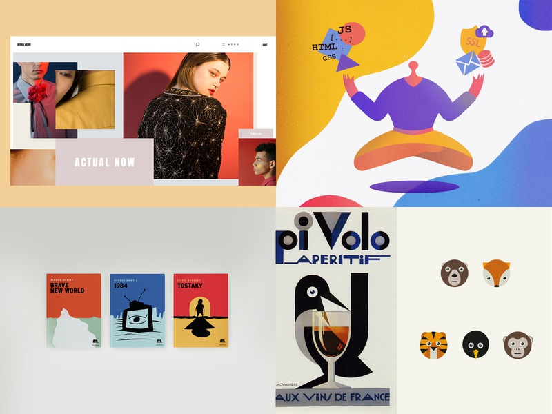 2018 Recap branding flat colors typography design illustration top posts