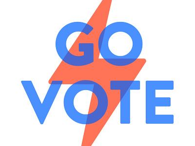 Go Vote minimal typgraphy brandon grotesque usa democracy vote