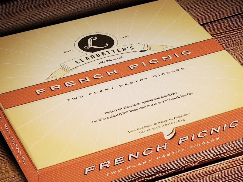 Leadbetter's French Picnic Packaging color clean minimal food packaging graphic design logo design packaging