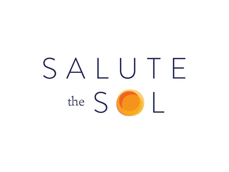 Salute the Sol Logo (WIP) brandon grotesque orange presaro sun logotype logo identity brand branding