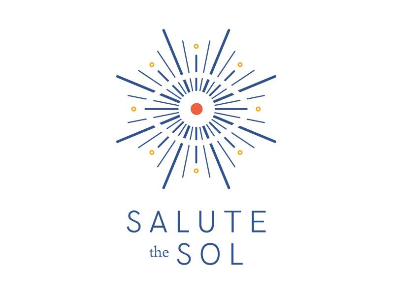Salute the Sol Logo coach lifestyle coaching freight pro text hk grotesque sun logotype logo identity brand branding