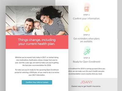 Email Campaign for Joany