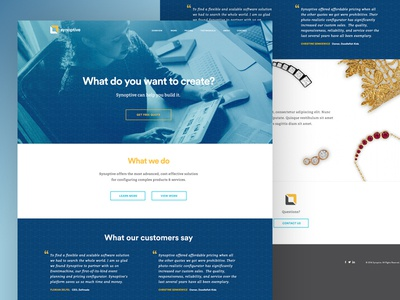 Homepage Concept for Configuration Software Company