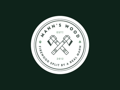 Mann's Wood Logo by Molly Mann - Dribbble