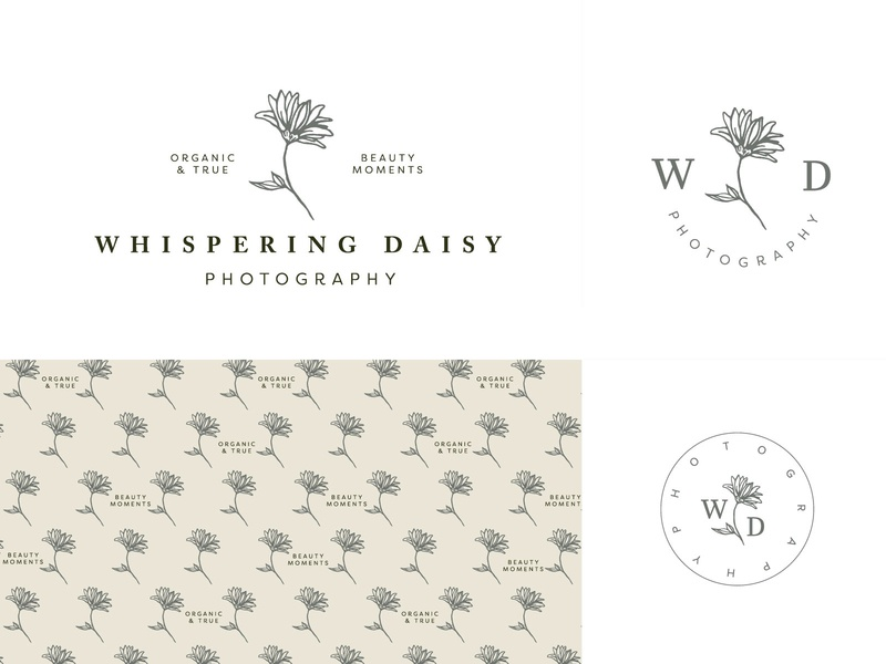 Whispering Daisy Logo by Molly Mann on Dribbble