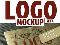 FREEBIE #3 / Photorealistic Logo Mock-ups (Vintage Paper)