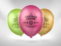 Balloon Logo Mock-up